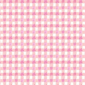 Peachy Pink Gingham - XS