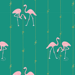 Stray Design Flamingo Pattern