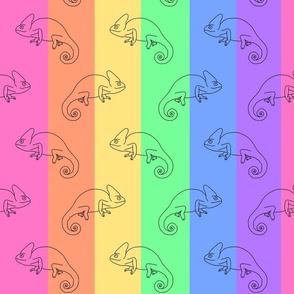 Pastel Rainbow Chameleons