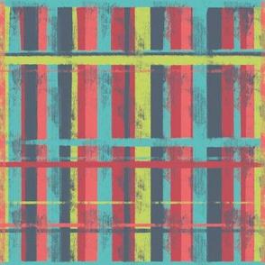 digital painting distressed plaid