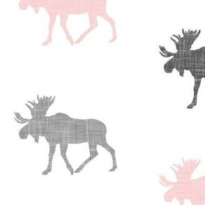 multi moose || pink & grey C19BS