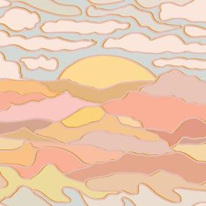 Mojave Desert Aerial Landscape