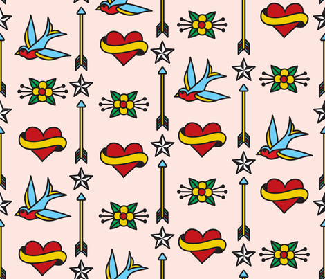 Rockabilly fabric by melhales on Spoonflower - custom fabric