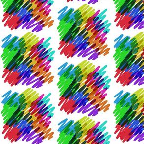 Party Fun - rainbow scribble