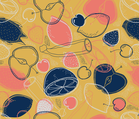 fruit cocktail fabric by booboo_collective on Spoonflower - custom fabric