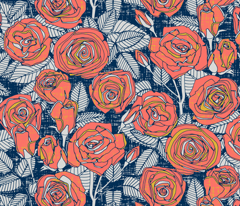 ROSES LIMITED fabric by scrummy on Spoonflower - custom fabric