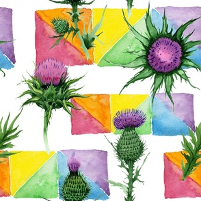 Thistles and Colour Blocks (Large)