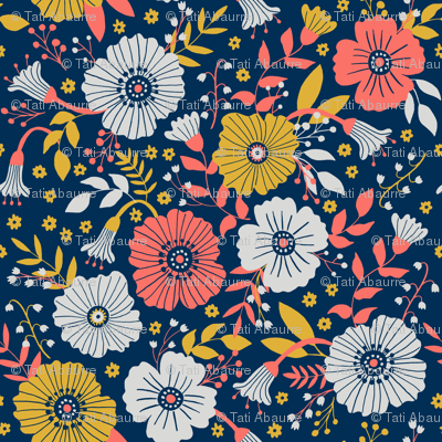 Bold and bright florals