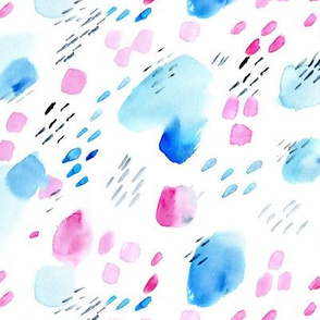 Watercolor daydream || abstract brush stroke pattern for nursery
