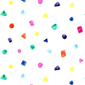 Watercolor confetti || fun colorful pattern for nursery, kids