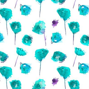 Tiffany blue watercolor florals