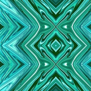 GP7 - XL -  Geometric Pillars  in Crystalline Teal, LW