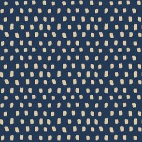 Paint Polka Quilt - beige on blue