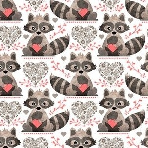 Raccoon's Valentine - Coral - Small Scale (Client Requested)