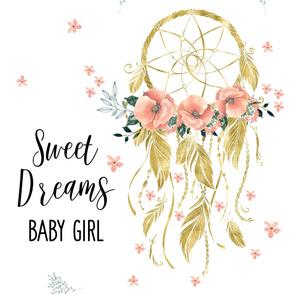 "27""x36"" Sweet Dreams Baby Girl Dream Catcher"