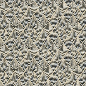Tree-o-metric  quilt - beige and blue