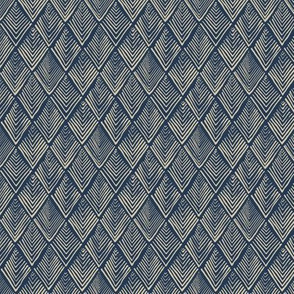 Tree-o-metric  quilt - blue and beige