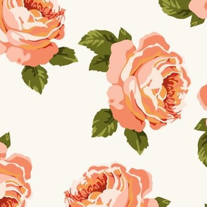 Pretty peonies in coral (large)