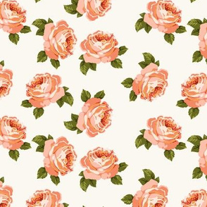 Pretty peonies in coral (medium)