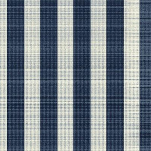 navy blue and ivory stripes