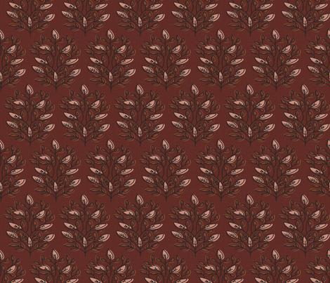 MARA BURGUNDY LEAF fabric by holli_zollinger on Spoonflower - custom fabric