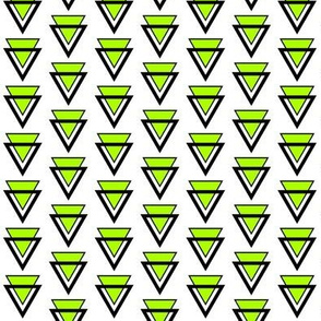 Lime green and black triangles