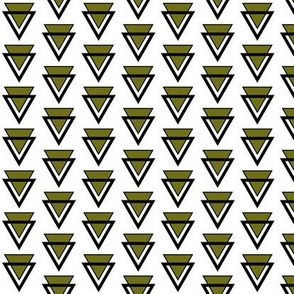 Olive green and black triangles