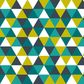 teal + citron triangles