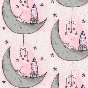 Siesta on the moon pink