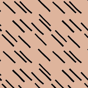 Basic stripes and strokes diagonal rain monochrome circus theme black and white beige