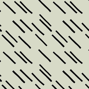 Basic stripes and strokes diagonal rain monochrome circus theme black and white green spring