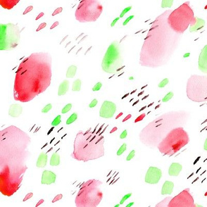 Strawberry daydreams || watercolor abstract pattern