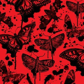 Maleficent Drip Moths on Red