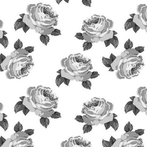 Pretty peonies in grey (medium)