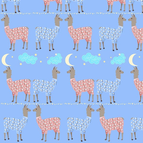 Llamas In PJs With Stars