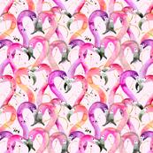 valentine flamingos!!