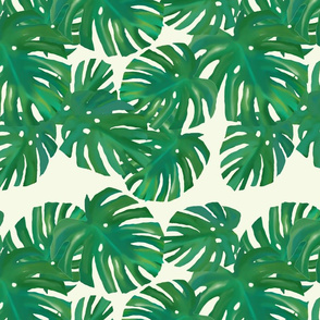 monstera fabric repeat