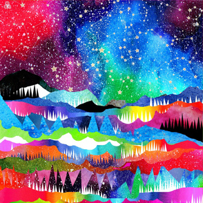 """Northern Winter Constellations - NON SEAMLESS - large 36"""""""