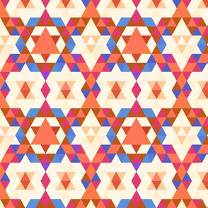 Moroccan Pattern in Coral