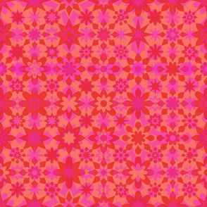 Floral Stars - Pink