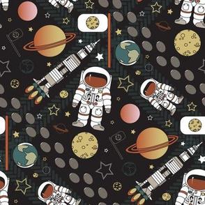 Moon landing space adventures