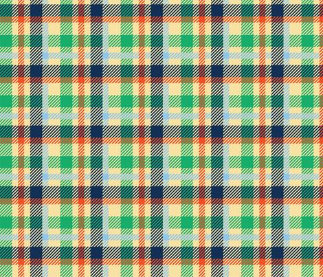 Plaid Carolina Blue, Light Blue, Navy, Green, Off White, Saint Patricks Day fabric by furbuddy on Spoonflower - custom fabric