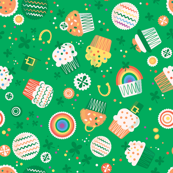 St. Pat's Cupcakes (Kelly green)
