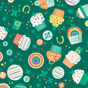 St. Pat's Cupcakes (dark green)