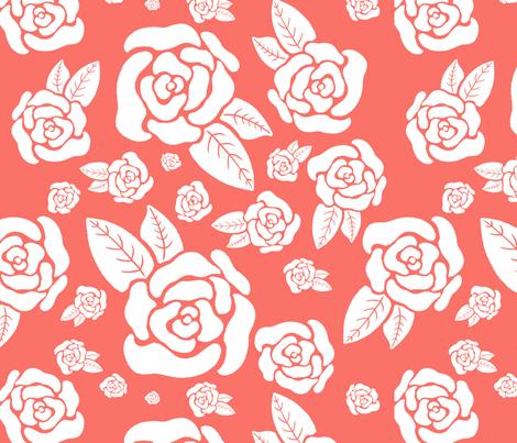 Rockabilly Rose fabric by hayleyraedesigns on Spoonflower - custom fabric