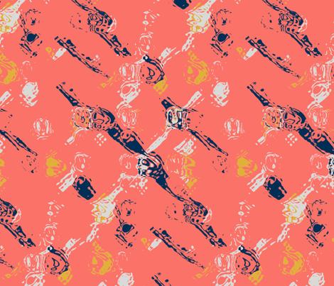 Coral Geo fabric by margaret_ann_missman_designs on Spoonflower - custom fabric