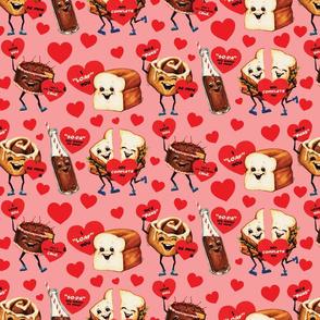 Food Valentines - Pink
