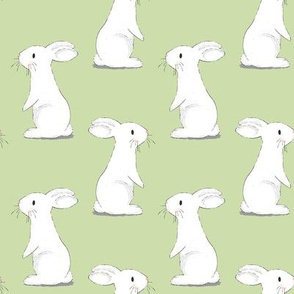 Bunny Rabbits - small scale on Green
