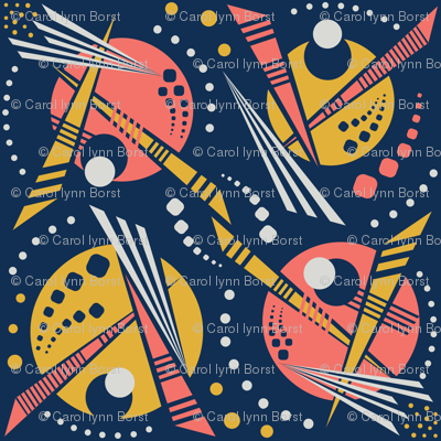 80's Memphis Geometric Outer Space