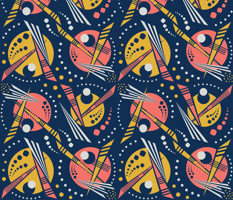 80's Memphis Geometric Outer Space fabric by candogirldesign on Spoonflower - custom fabric